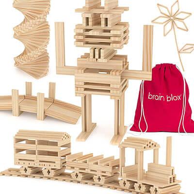 Brain Blox Wooden Building Blocks for Kids