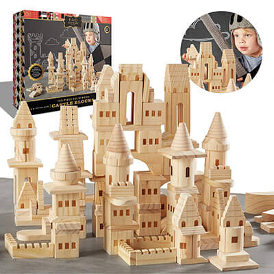 FAO Schwarz Medieval Knights & Princesses Wooden Castle