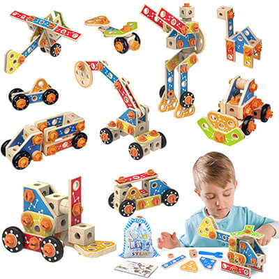 LUKAT Wooden Building Toys